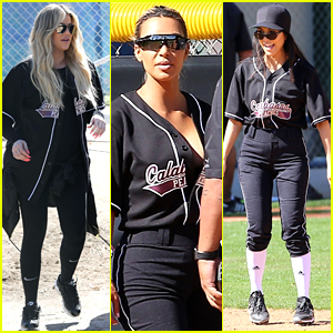 Kardashian-Jenners Compete in Softball Game for 'Keeping Up'