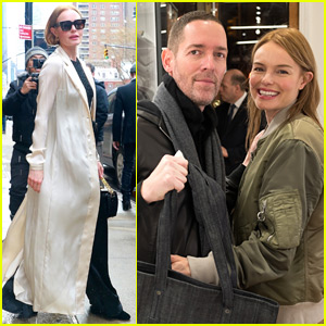 Kate Bosworth & Michael Polish Couple Up for Fashion Event in NYC!
