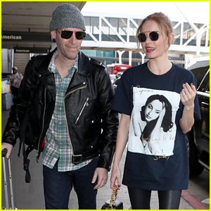 Kate Bosworth Wears a Sade Shirt for Chic Airport Outfit