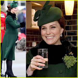 Pregnant Kate Middleton Opts for Water While Prince William Drinks Beer at St. Patrick's Day Parade