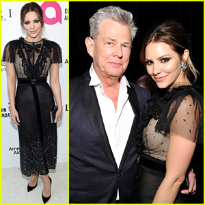 Katharine McPhee & David Foster Couple Up at Elton John's Oscars Viewing Party!