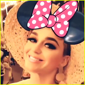 Katy Perry Takes Break from Tour at Disneyland in Hong Kong!