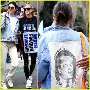 Kendall Jenner Wears Anti-Trump Jacket at March For Our Lives