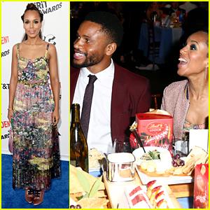Kerry Washington Supports Husband Nnamdi Asomugha at Spirit Awards 2018!