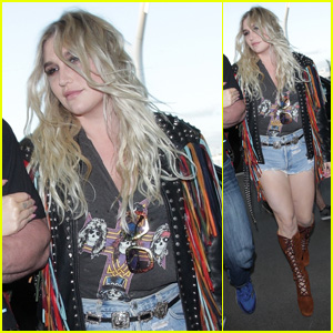 Kesha Steps Out Looking Great After Having ACL Surgery