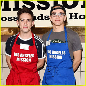 Glee's Kevin McHale Donates His Time at L.A. Mission with Austin McKenzie