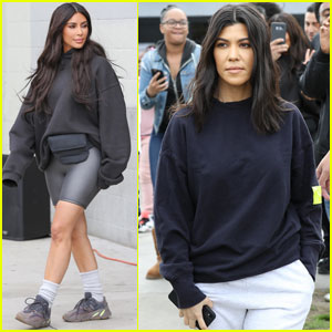 Kim & Kourtney Kardashian Help Open Watts Empowerment Center