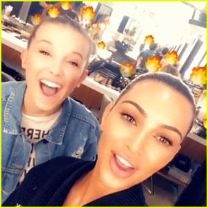 Kim Kardashian Hangs with Millie Bobby Brown on Good Friday