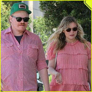 Kirsten Dunst & Fiance Jesse Plemons Rock Matching Pink Outfits in LA