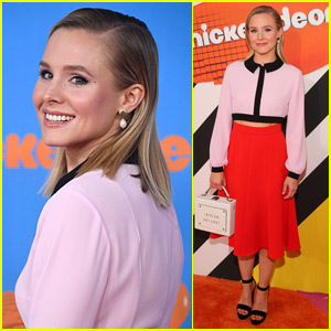 Kristen Bell Looks So Chic on KCAs 2018 Orange Carpet!