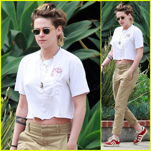 Kristen Stewart Keeps it Casual in a Crop Top in Los Angeles