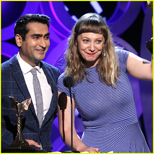 Kumail Nanjiani & Emily V. Gordon Win Best First Screenplay at Spirit Awards 2018!