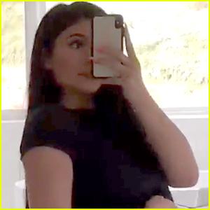 Kylie Jenner Bares Post-Baby Body in Black Underwear