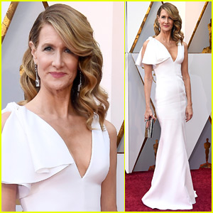 Laura Dern Goes Glam in White Gown for Oscars 2018