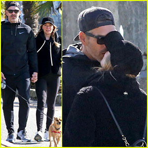 LeAnn Rimes & Eddie Cibrian Share Kiss on Their Dog Walk in Vancouver