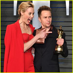 Leslie Bibb Is So Excited for Sam Rockwell's Oscar Win!