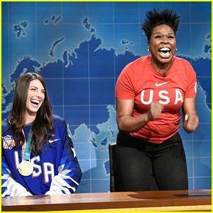 Leslie Jones Brings Olympian Hilary Knight to 'SNL' - Watch!