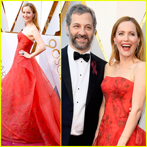 Leslie Mann & Judd Apatow Arrive in Style for Oscars 2018