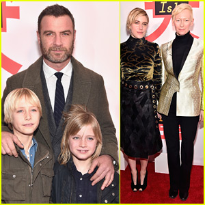 Liev Schreiber Brings His Sons to 'Isle of Dogs' Premiere!