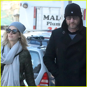 Liev Schreiber & Girlfriend Taylor Neisen Step Out for a Stroll in NYC