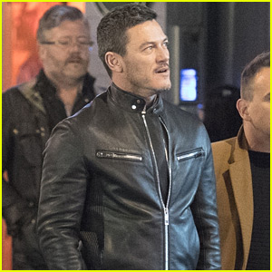 Luke Evans Looks Handsome in Leather Jacket While Out in London