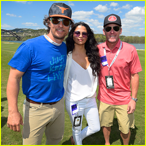 Matthew McConaughey & Wife Camila Alves Join Lance Armstrong at World Golf Championships!