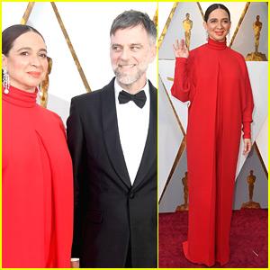 Maya Rudolph Supports Husband Paul Thomas Anderson at Oscars 2018