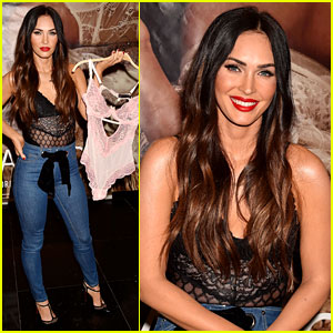 Megan Fox Wears Lace Top to Celebrate Lingerie Collaboration