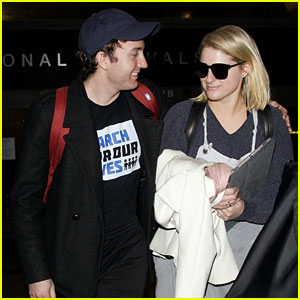 Meghan Trainor & Fiance Daryl Sabara Look So Happy at LAX!