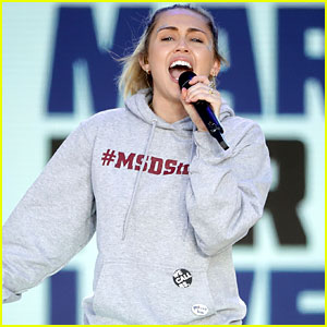 Miley Cyrus Sings 'The Climb' at March For Our Lives (Video)
