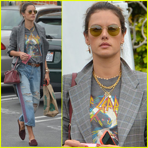 Alessandra Ambrosio Makes a Coffee Run in Beverly Hills