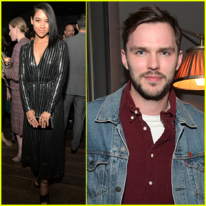 X-Men's Nicholas Hoult & Alexandra Shipp Help Celebrate Oscar Nominated Film