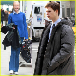 Nicole Kidman & Ansel Elgort Get to Work on 'The Goldfinch'