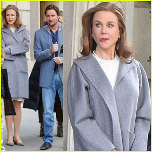 Nicole Kidman Gets Silly on 'The Goldfinch' Set With Luke Wilson