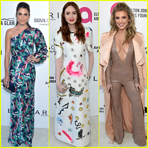 Nikki Reed, Karen Gillan, & AnnaLynne McCord Watch the Oscars at Elton John's Party!