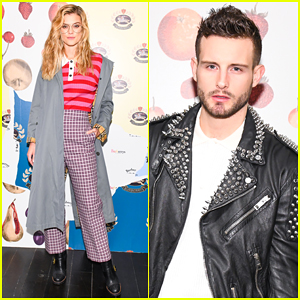 Nina Agdal & Nico Tortorella Step Out In Style for Burberry x 'Elle' Celebration!