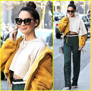 Olivia Munn Flashes Midriff While Out in Vancouver
