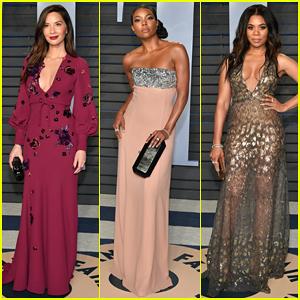 Olivia Munn, Gabrielle Union & Regina Hall Buddy Up at Vanity Fair Oscars Party 2018!