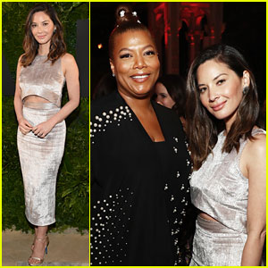 Olivia Munn Joins Queen Latifah at A+E Networks Upfront!