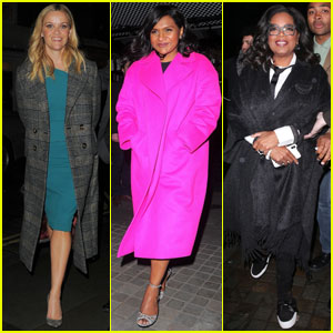 Reese Witherspoon Joins Oprah Winfrey & Mindy Kaling For A Night Out in London