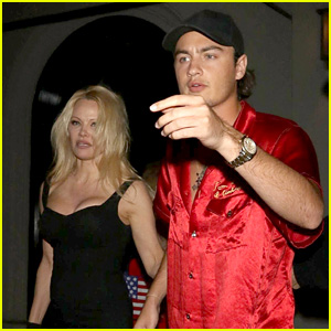 Pamela Anderson & Brandon Thomas Lee Have a Mother-Son Dinner in West Hollywood!