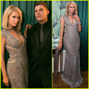 Paris Hilton & Fiance Chris Zylka Couple Up at Treats! Oscars Party 2018