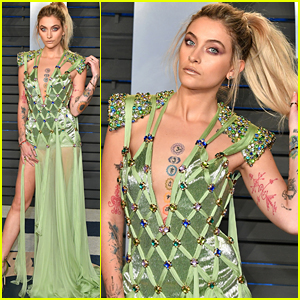 Paris Jackson Is a Green Goddess at Vanity Fair Oscars Party