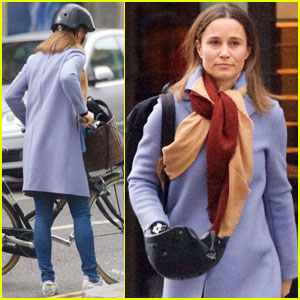 Pippa Middleton Looks Ready For Spring During Afternoon Bike Ride!