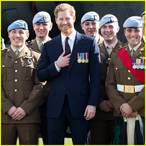 Prince Harry Returns to Pilot Training School to Present Army Air Corps Pilots' Wings