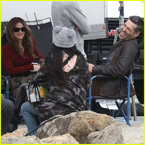 Rachel Bilson & Eddie Cibrian Share a Laugh on 'Take Two' Set