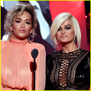 Rita Ora & Bebe Rexha Present Best Collab at iHeartRadio Music Awards 2018!