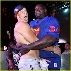 Rob Gronkowski Goes Shirtless for Dance Battle with Shaq!