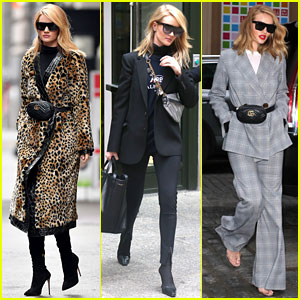Rosie Huntington-Whiteley is All About the Fanny Pack in NYC