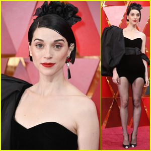St. Vincent Looks Chic on the Red Carpet at Oscars 2018